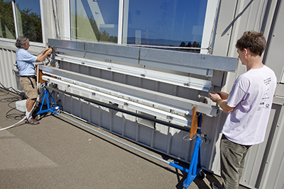 Installing motorized shades on Windows Test Facility