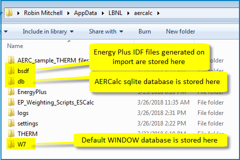 Software Release AERCalc 1 2 10 | Windows and Daylighting