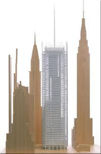 Small-scale model of the new New York Times building